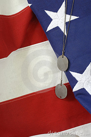 American Flag with Dog Tags #3