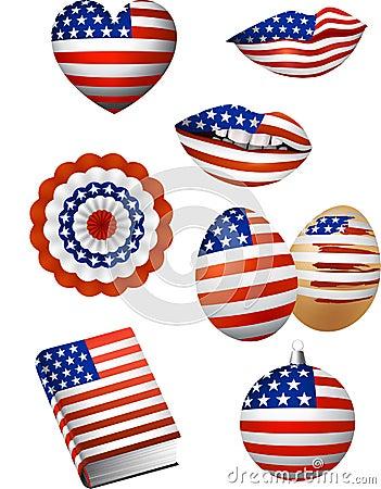 American Flag Elements