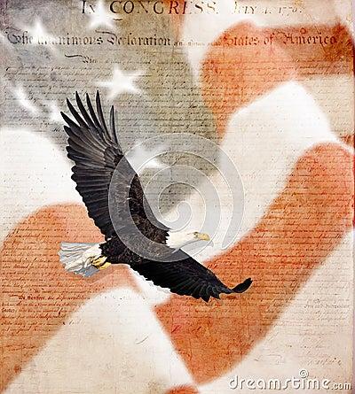 american eagle flying. AMERICAN FLAG, FLYING BALD