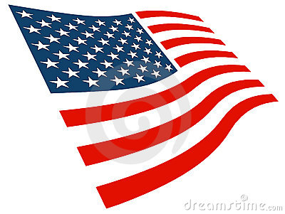 American Flag Graphic Royalty Free Stock Photography - Image: 3762327