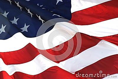 American Flag in Horizontal View