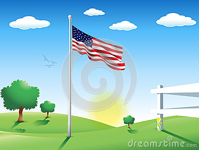 American Flag in July