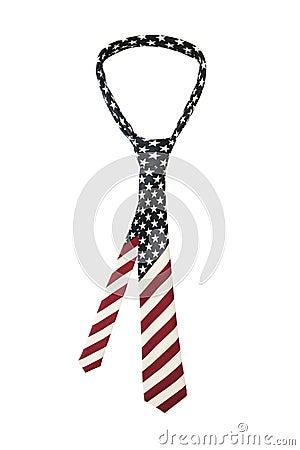 American flag necktie