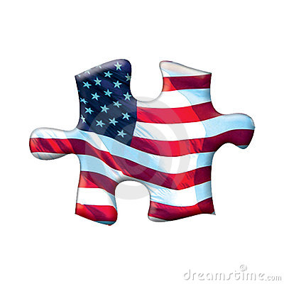 American flag puzzle piece