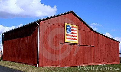 American Flag Quilt Barn