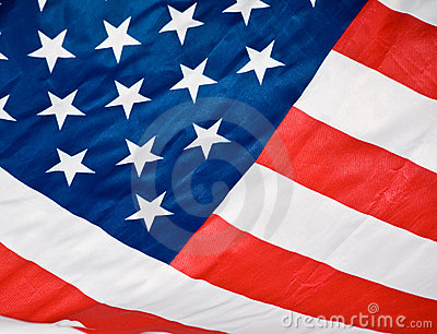 American flag red white blue