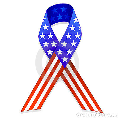 American Flag Ribbon EPS