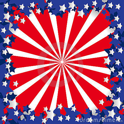 American flag stylized