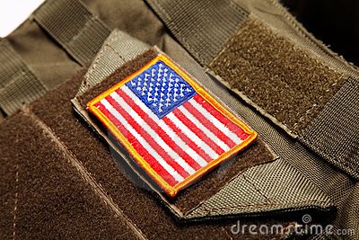 American flag on tactical vest