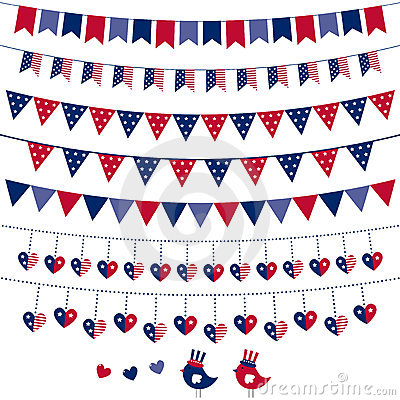 American flag themed bunting set