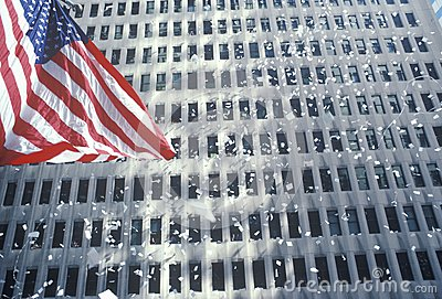 American Flag in Ticker Tape Parade