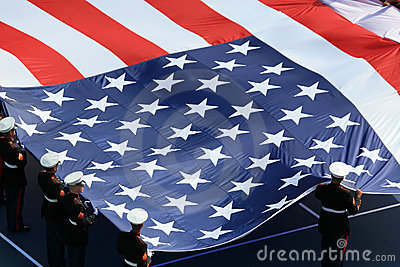 American flag on US Open