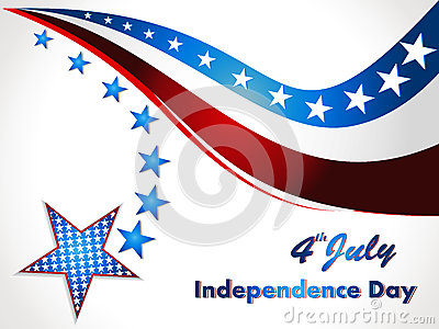 American Flag, Vector background for Independence