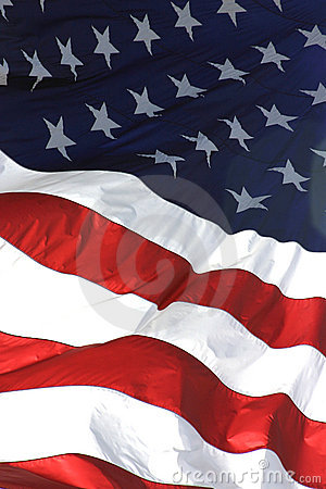 American Flag Vertical View Royalty Free Stock Photos