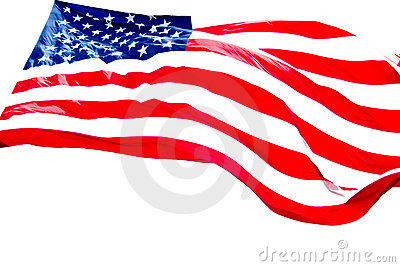 American Flag White Background
