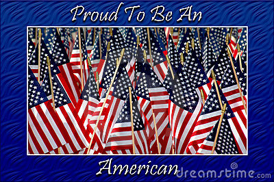 American Flags Card