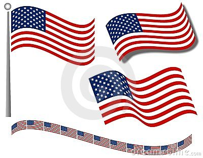 American Flags Clip Art and Divider