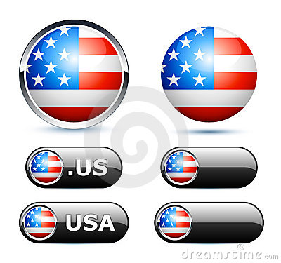 American flags icon
