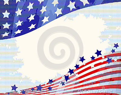 American flowing background