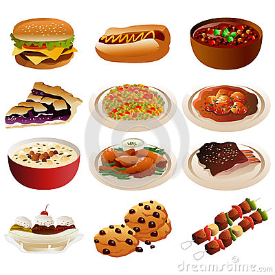 Free American Food Icons Stock Photos - 36397643