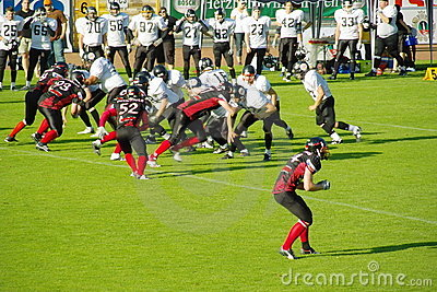 American Football Editorial Stock Image