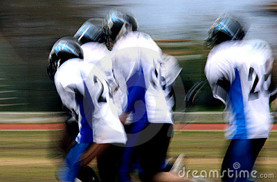 American football abstract blur