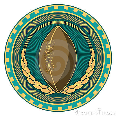 American football badge.
