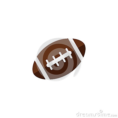American football ball flat icon, college sport Vector Illustration