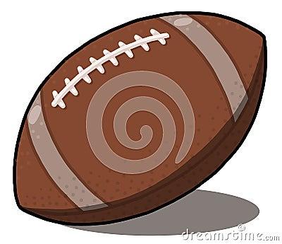 American football ball illustration
