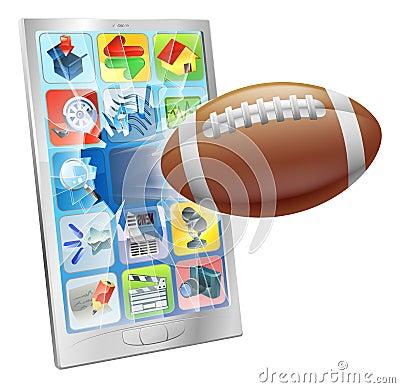 American football ball mobile phone