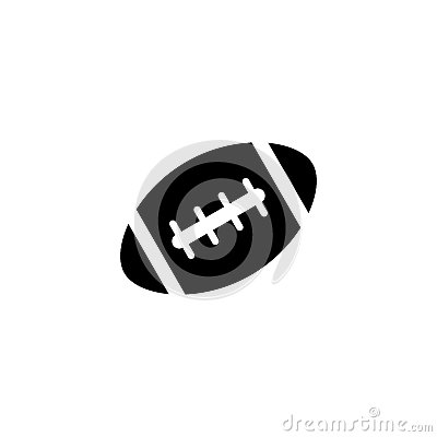 American football ball solid icon, college sport