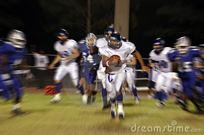 American football blur
