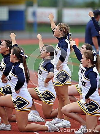 American Football Cheerleaders - high school Editorial Photography