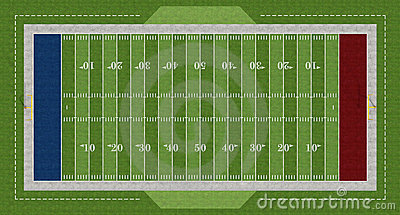 American  Football Field Stock Image - Image: 23090911