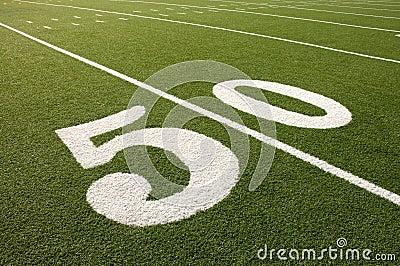 American Football Field 50 Yard Line