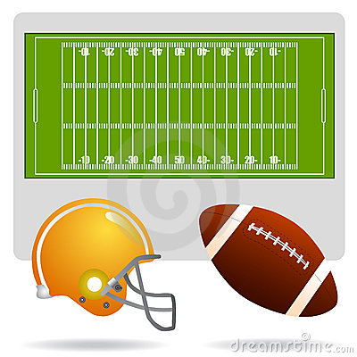 Free American Football Field And Object Royalty Free Stock Photos - 6789158