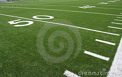 American Football Field Yard Lines