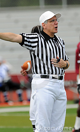 American football game - official calls a penalty Editorial Photography