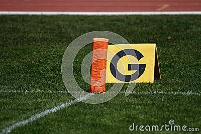 American football goal line