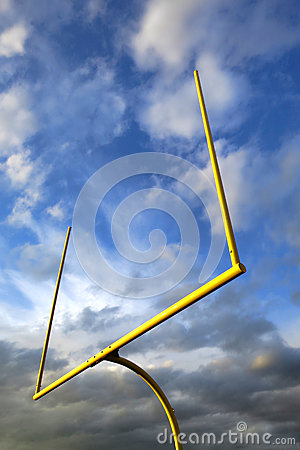 American Football Goal Posts over Dramatic Sky