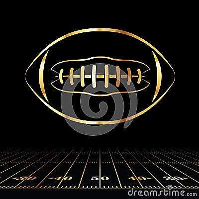 Free American Football Golden Icon Stock Photos - 62170833