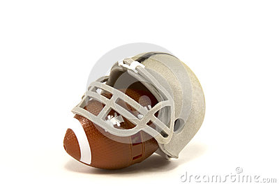 American Football and Helmet