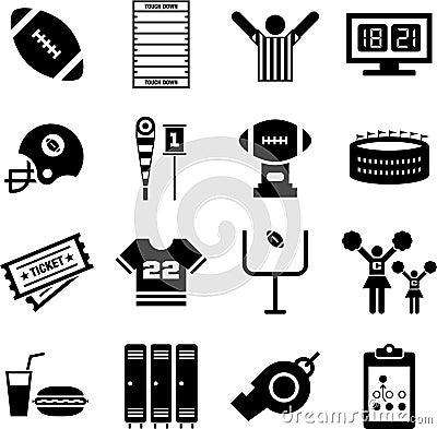 Free American Football Icons Stock Photo - 30196680