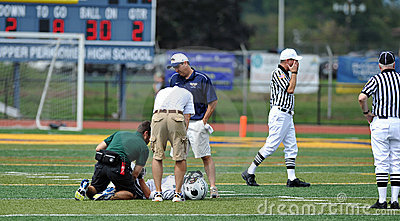 American Football injury on the field Editorial Photo