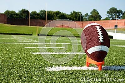 American Football on Kicking Tee