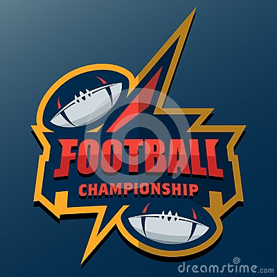 Free American Football Logo Template. Vector College Logos Illustrati Royalty Free Stock Photos - 106224718