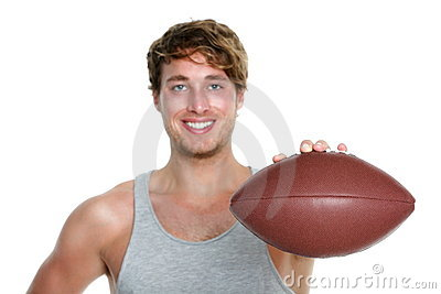 American football - man isolated