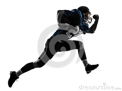 American football player man running  silhouette
