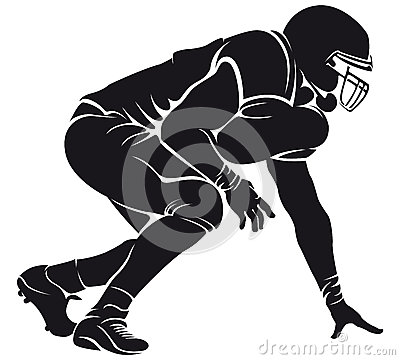 Free American Football Player, Silhouette Royalty Free Stock Photography - 31544057