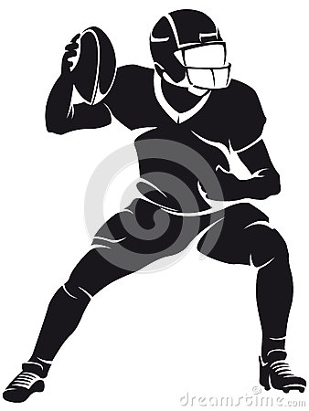 Free American Football Player, Silhouette Stock Images - 31544094